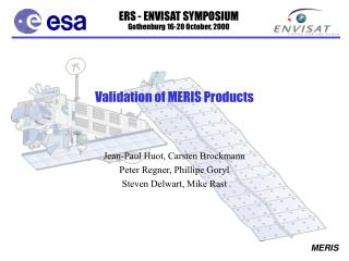 Validation of MERIS Products