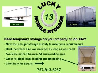Need temporary storage on you property or job site?