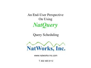 An End-User Perspective On Using NatQuery  Query Scheduling