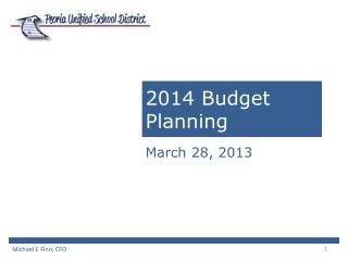 2014 Budget Planning