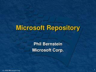 Microsoft Repository