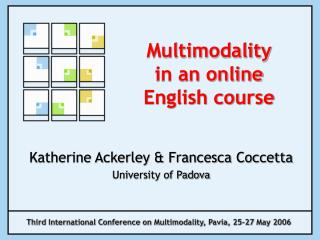 Multimodality  in an online English course