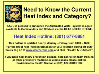 Need to Know the Current Heat Index and Category?