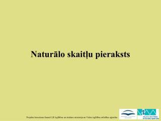 Naturālo skaitļu pieraksts