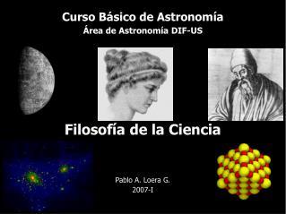Curso Básico de Astronomía Área de Astronomía DIF-US