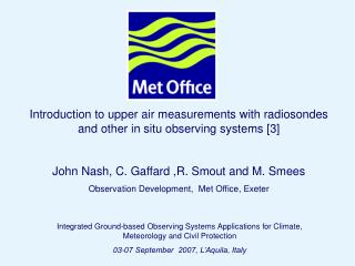 Introduction to upper air measurements with radiosondes and other in situ observing systems [3]