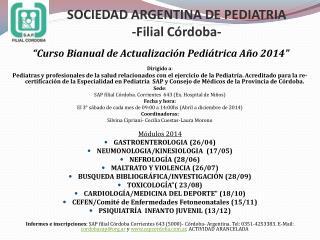 SOCIEDAD ARGENTINA DE PEDIATRIA -Filial Córdoba-