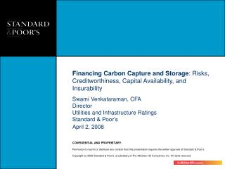 Financing Carbon Capture and Storage: Risks, Creditworthiness, Capital Availability, and Insurability
