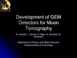 Development of GEM Detectors for Muon Tomography
