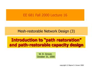 EE 681 Fall 2000 Lecture 16