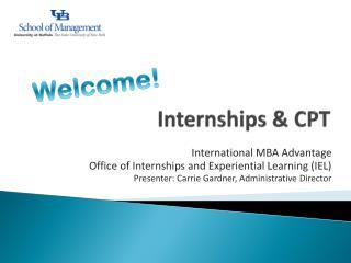 Internships & CPT