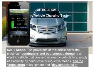 ARTICLE 625 Electric Vehicle Charging System