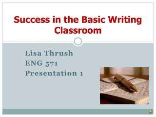 Success in the Basic Writing Classroom