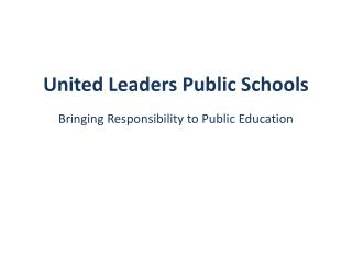 United Leaders Public Schools