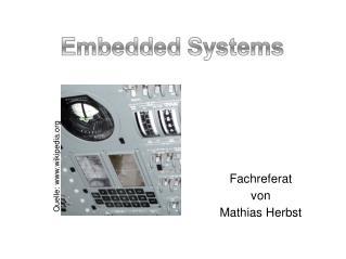 Fachreferat von Mathias Herbst