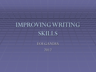 Improving Writing