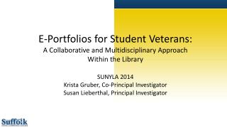 E-Portfolios for Student Veterans: