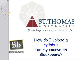 How do I upload a  syllabus for my course on Blackboard?