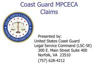 Coast Guard MPCECA Claims