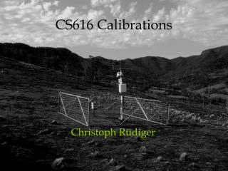 CS616 Calibrations