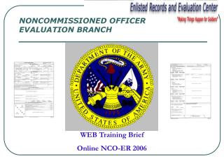 WEB Training Brief Online NCO-ER 2006