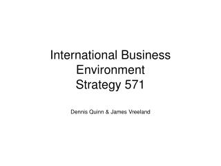 International Business Environment Strategy 571