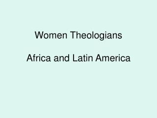 Women Theologians