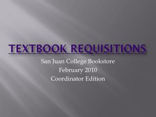 Textbook Requisitions