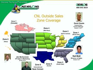 CNL Outside Sales Zone Coverage