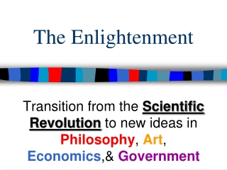SCIENTIFIC REVOLUTION, THE ENLIGHTENMENT,  ENLIGHTENED DESPOTISM REVIEW