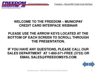 Freedom – MuniciPAY Credit Card Interface