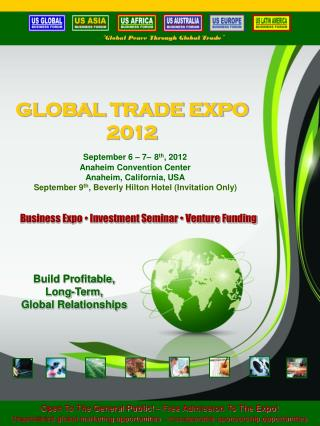 GLOBAL TRADE EXPO 2012