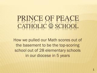 Prince of peace catholic  j  School