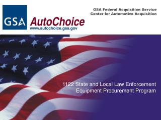 GSA Federal Acquisition Service Center for Automotive Acquisition