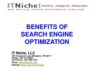 Benefits of Search Engine Optimization