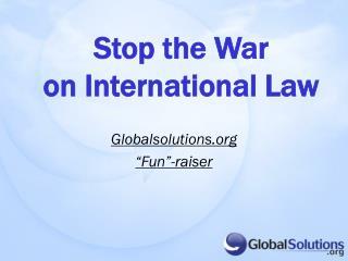 """Globalsolutions  """"Fun""""-raiser"""
