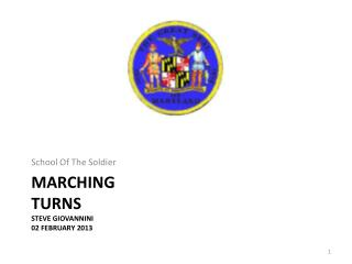Marching TURNS Steve Giovannini 02 February 2013