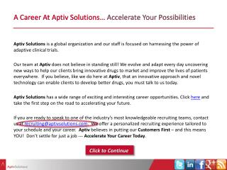 A Career At Aptiv Solutions� Accelerate Your Possibilities