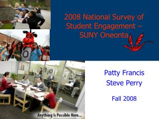 2008 National Survey of Student Engagement –  SUNY Oneonta