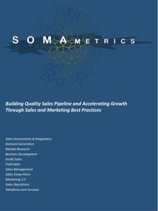 Building Quality Sales Pipeline and Accelerating Growth Through Sales and Marketing Best Practices