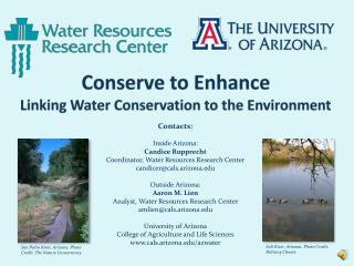 Conserve to Enhance Linking Water Conservation to the Environment