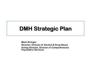DMH Strategic Plan