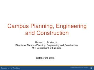 Campus Planning, Engineering and Construction