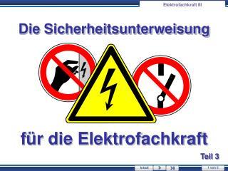 Elektrofachkraft III