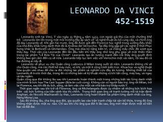 Leonardo  da  Vinci 452-1519