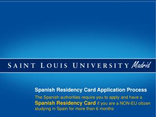 Spanish Residency Card Application Process