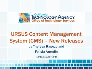 URSUS Content Management System (CMS) – New Releases
