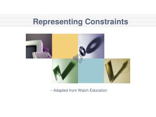 Representing Constraints