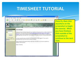 TIMESHEET TUTORIAL