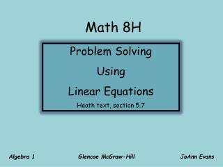Math 8H